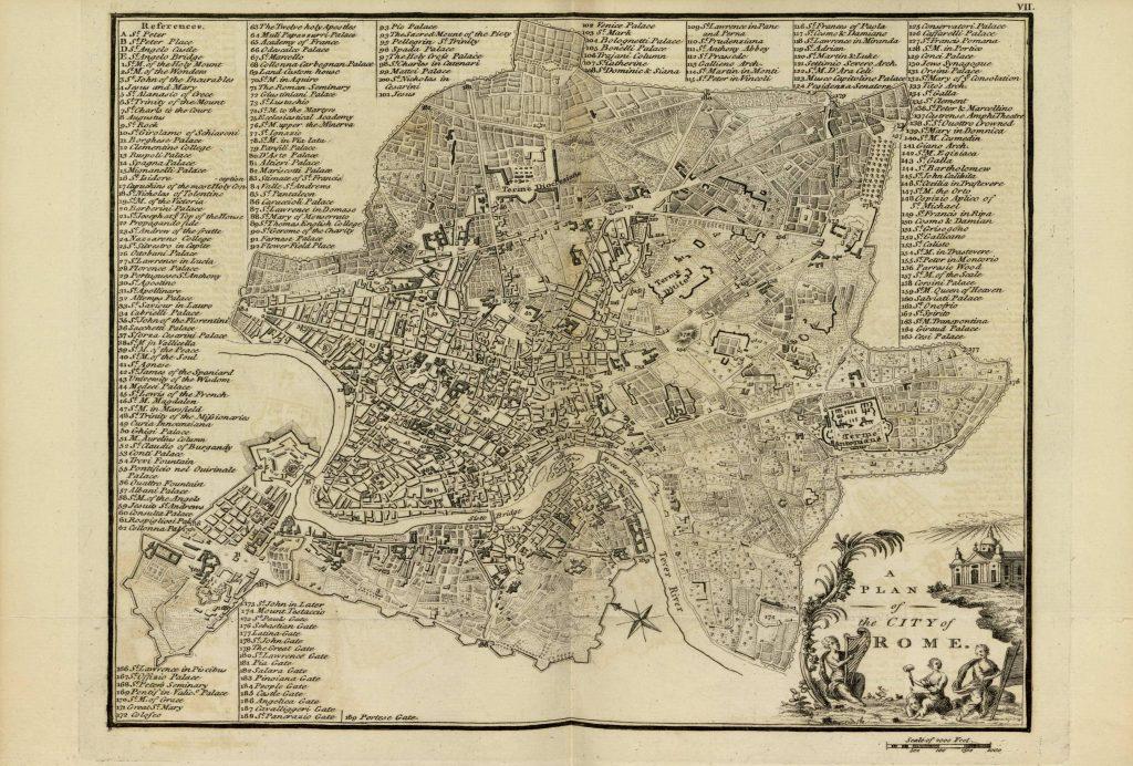 Карта Рима, 1771 г.