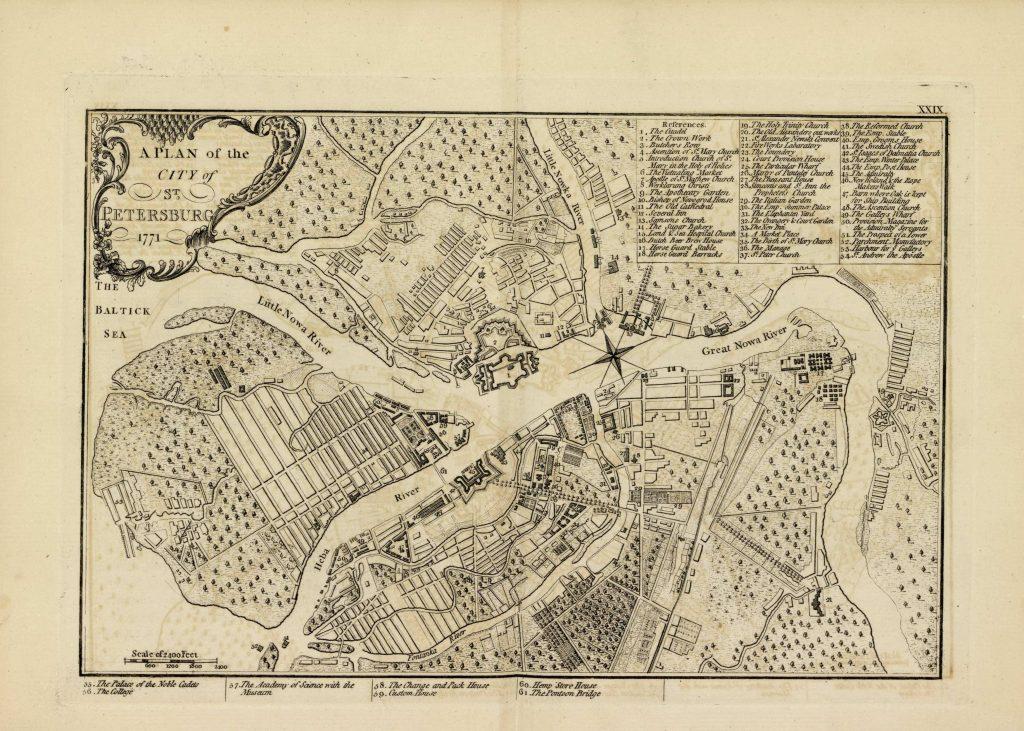 Карта Санкт-Петербурга, 1771 г.