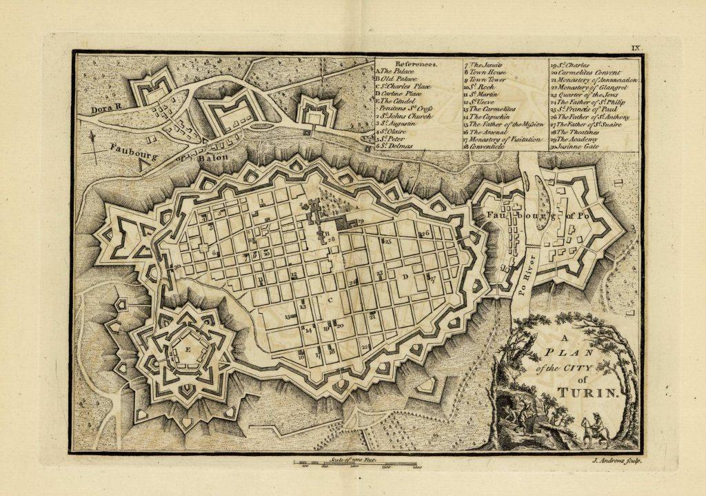 Карта Турина, 1771 г.
