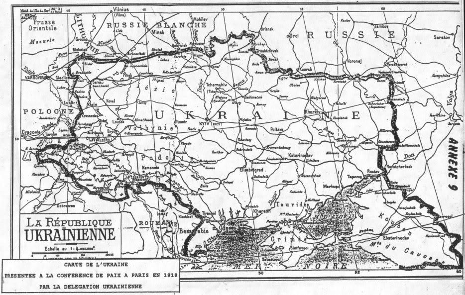 Карта Украины, 1919 г.