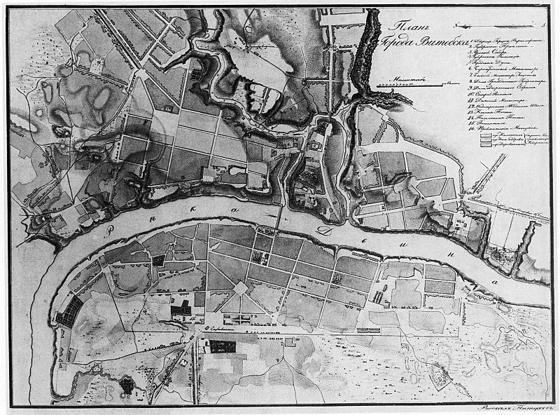 Карта Витебска, 1820 г.