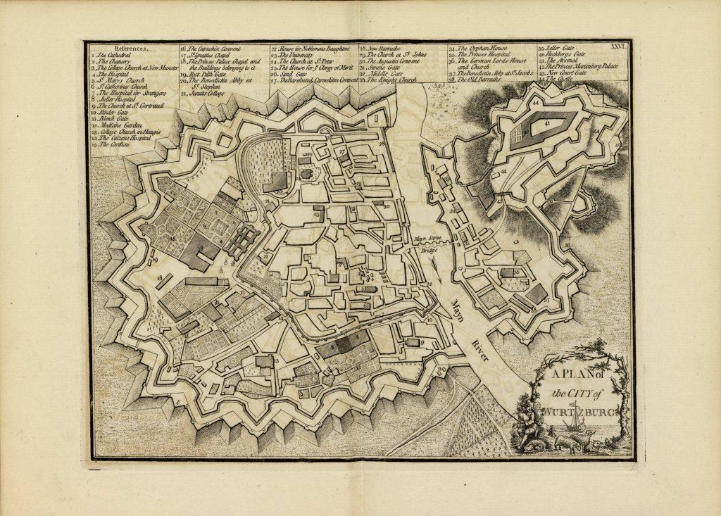 Карта Вюртемберга, 1771 г.