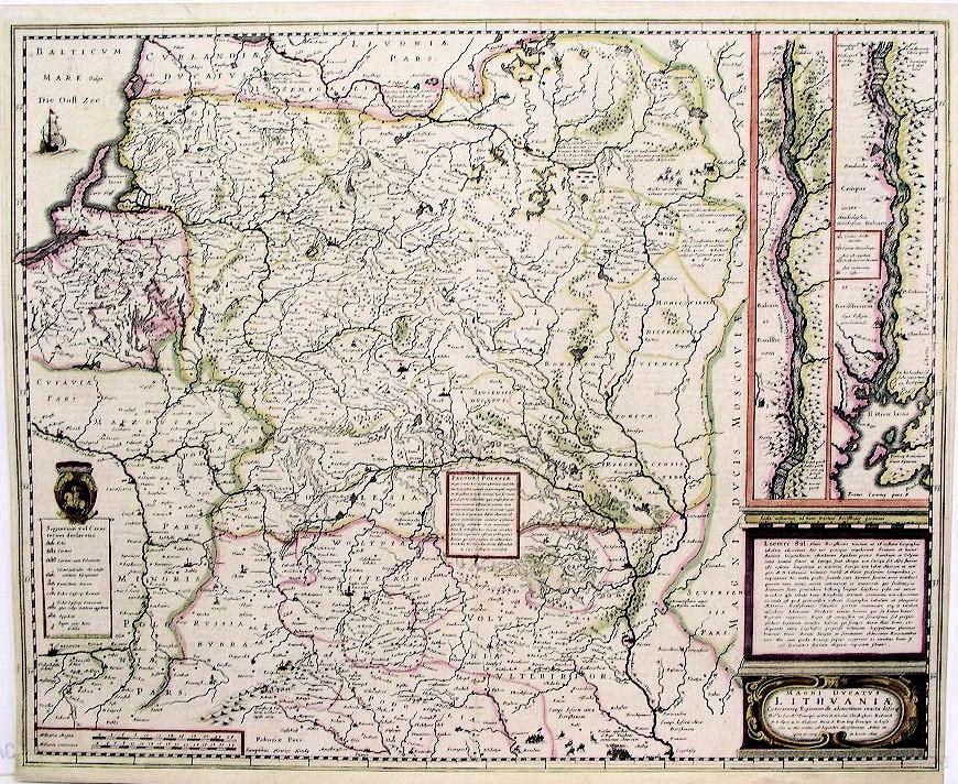 Карта Великого княжества Литовского, 1640 г.