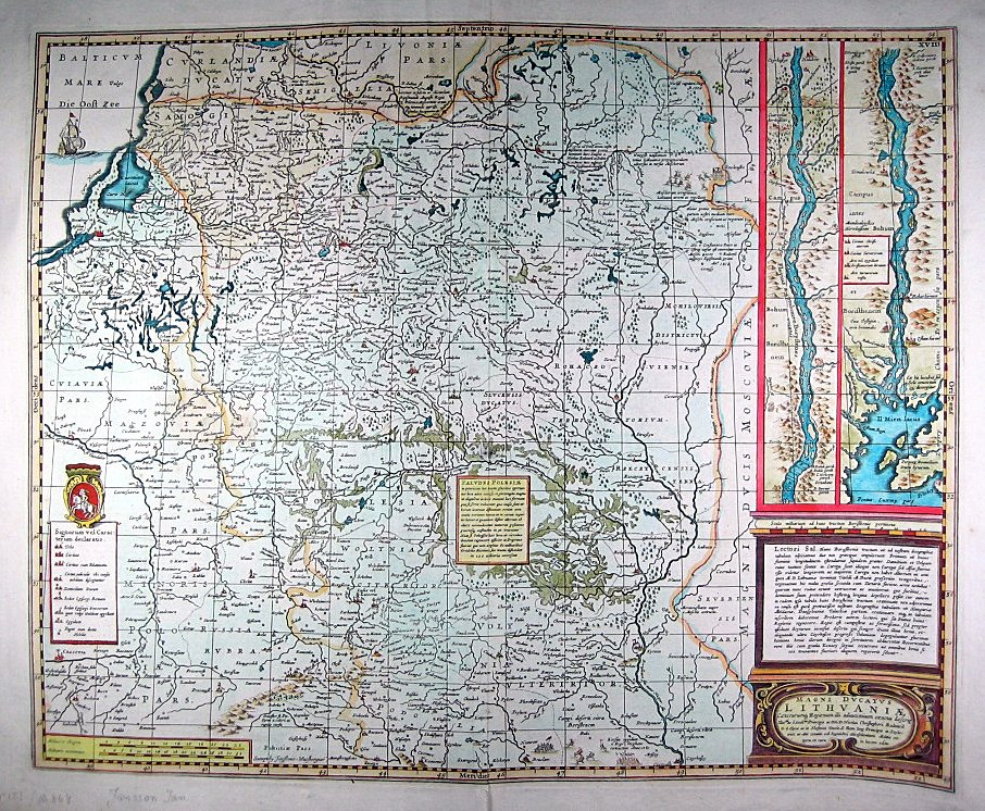 Карта Великого княжества Литовского, 1650 г.