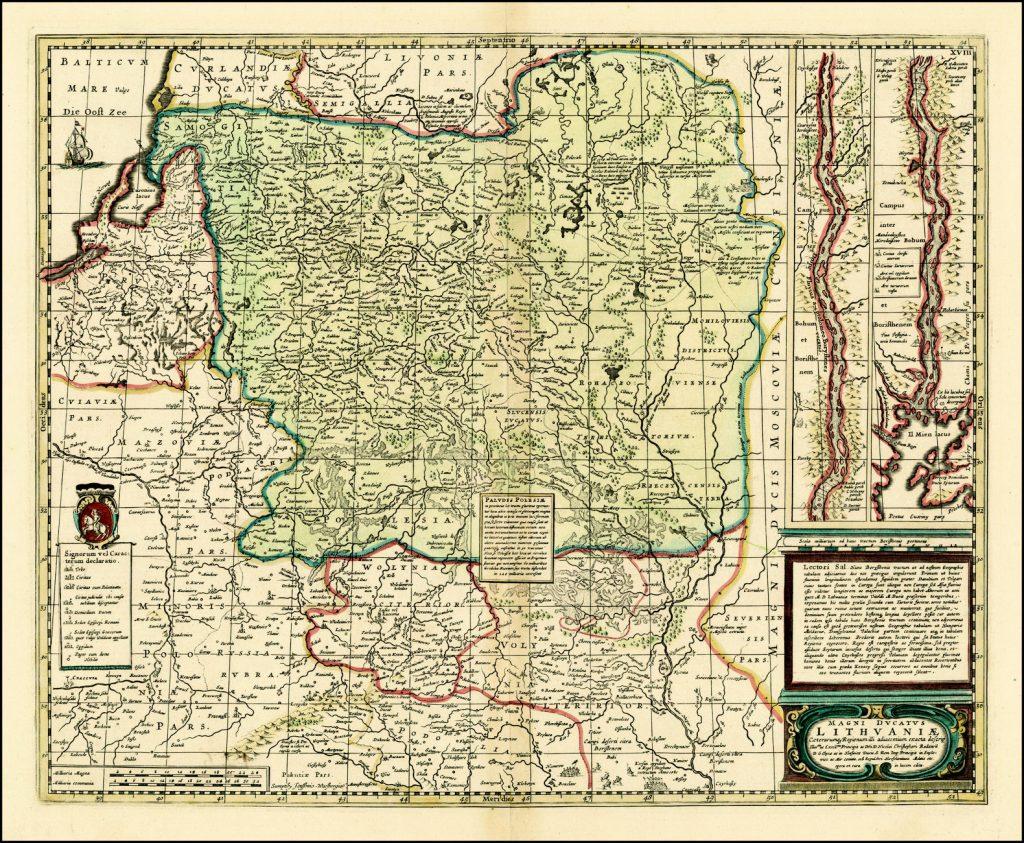 Карта Великого княжества Литовского, 1636 г.