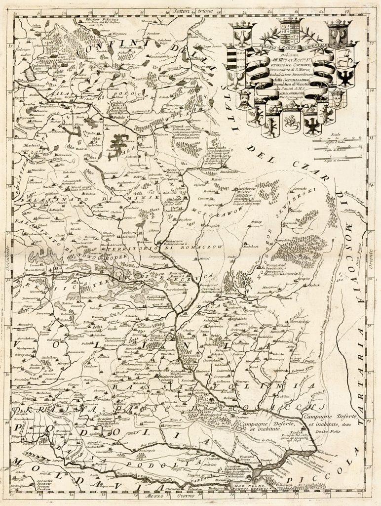 Карта Польши, 1692 г.