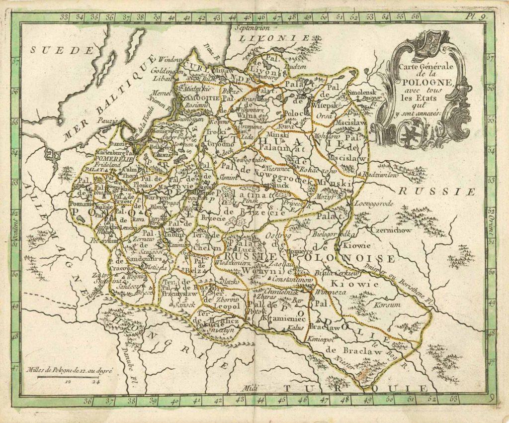 Карта Польши, 1786 г.
