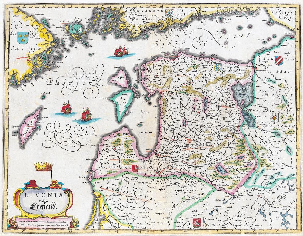 Карты Ливонии, 1662 г.