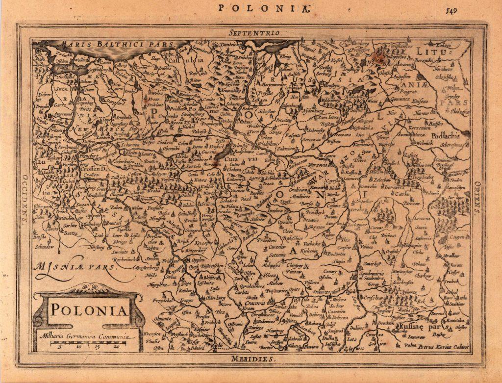 Карта Польши, 1632 г.
