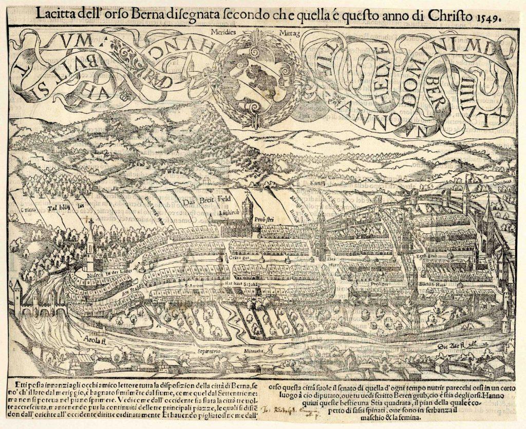 Карта Берна, 1549 г.