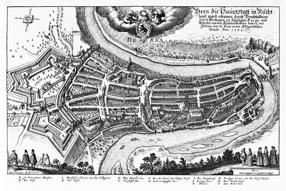 Карта Берна, 1638 г.
