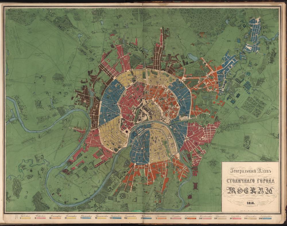 Генеральный план Москвы, 1860 г.