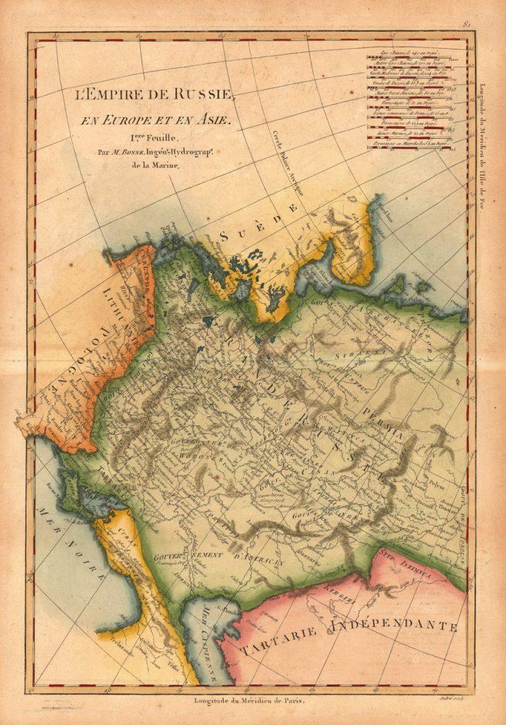Карта России, 1780 г.