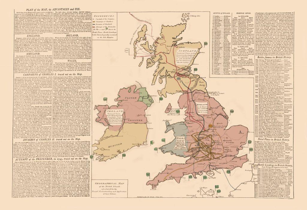 Карта Британии и Ирландии, 1802 г.