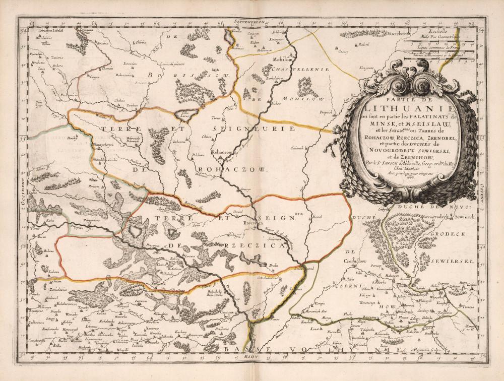 Карта Минского воеводства, 1666 г.