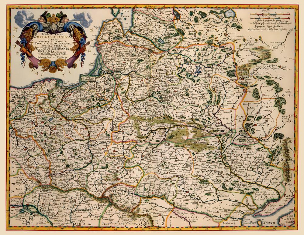 Карта Речи Посполитой, 1608 г.