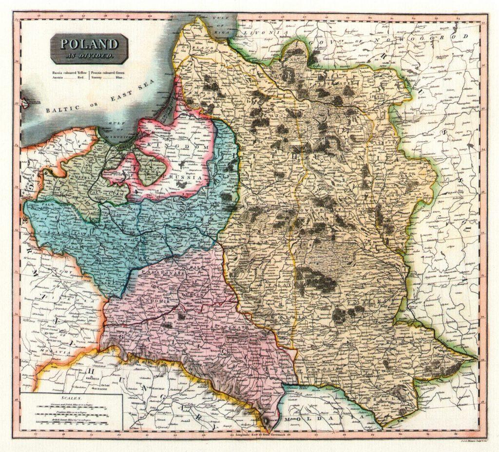 Карта Речи Посполитой, 1817 г.