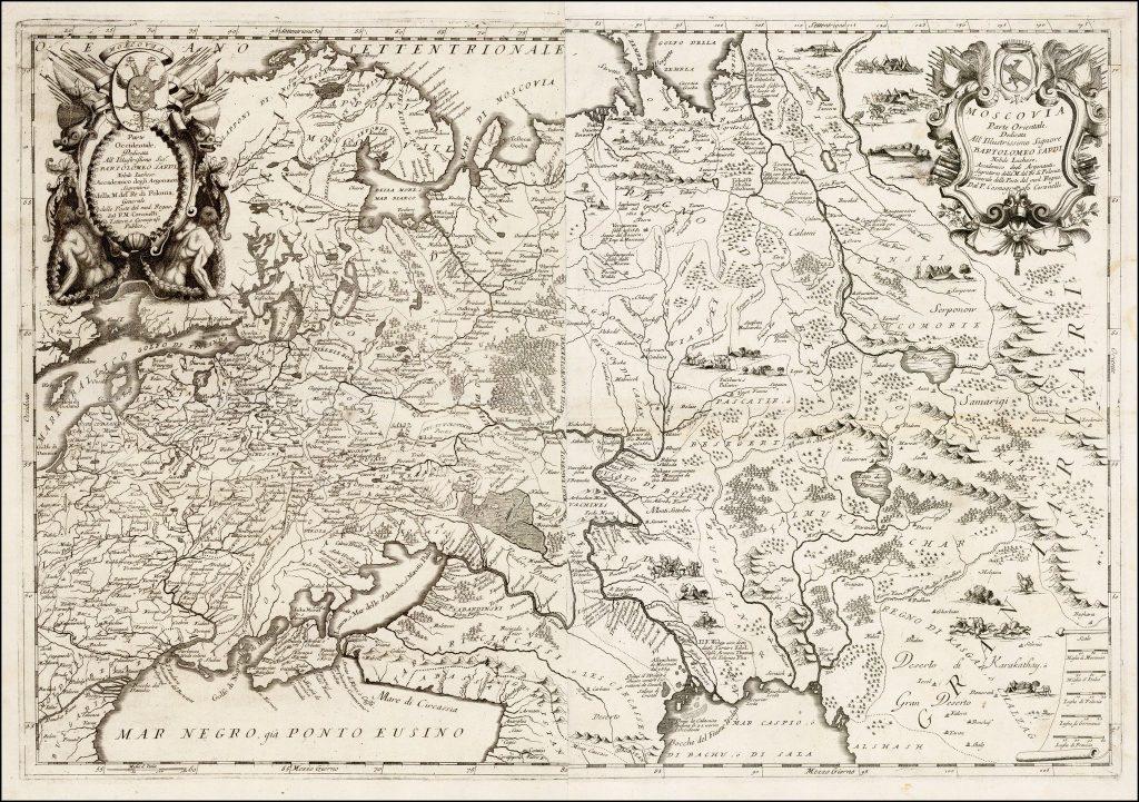 Карта России, XVII века