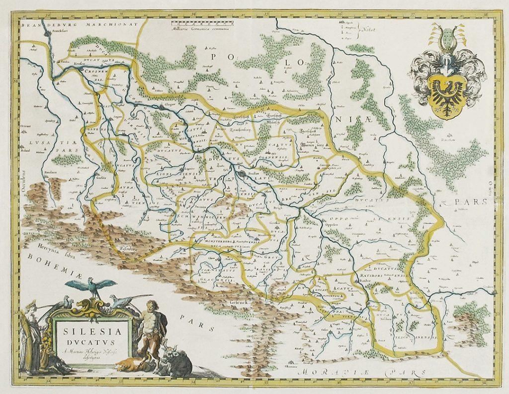 Карта Силезии, 1635 г.