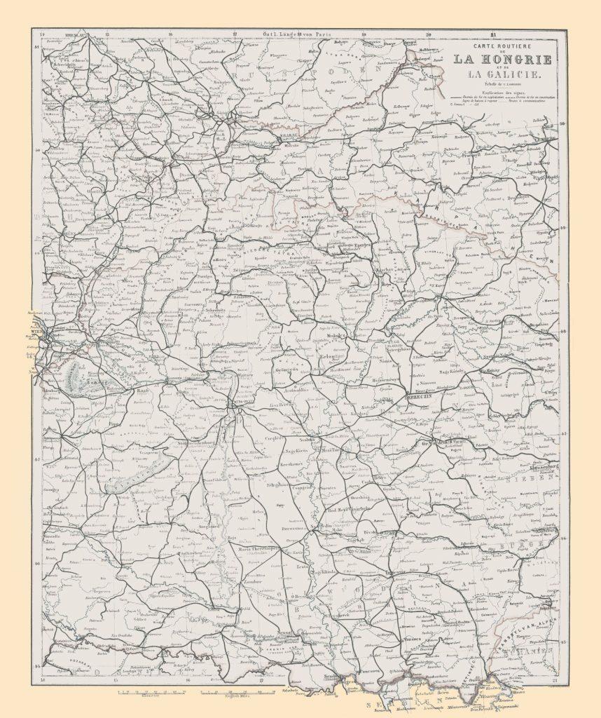 Карта Галиции, 1896 г.