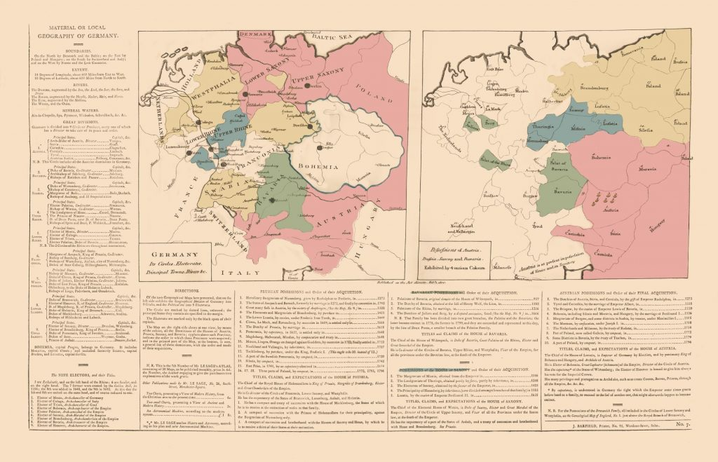 Карта Германии, 1802 г.