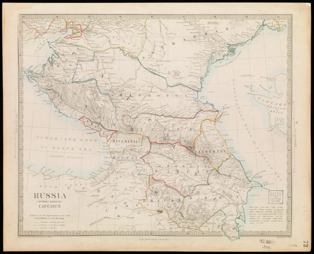 Карта Кавказа, 1844 г.